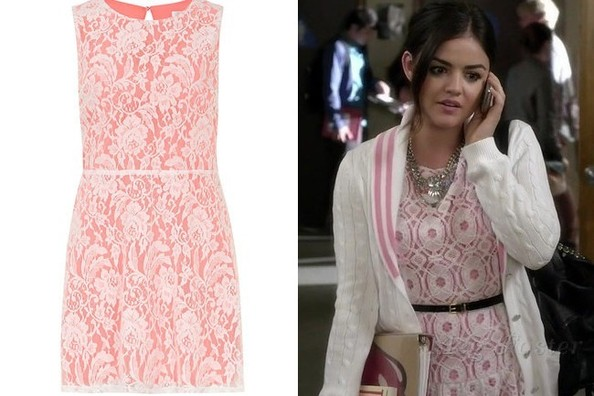 A Pink Lace Dress Like Lucy Hale's on 'Pretty Little Liars'