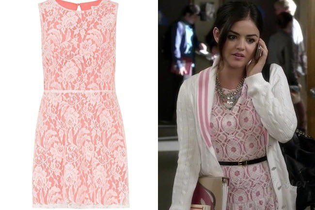 A Pink Lace Dress Like Lucy Hale S On Pretty Little Liars