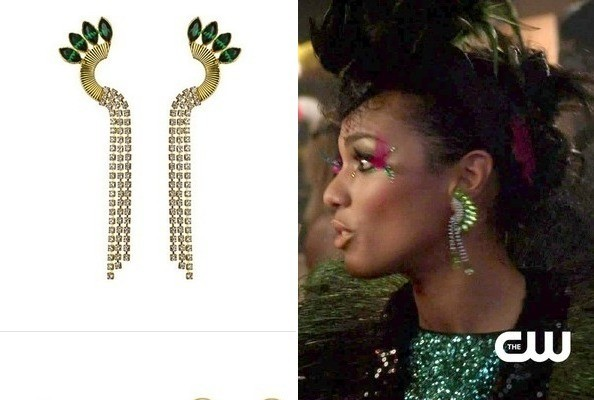 Freema Agyeman's Green Earrings on 'The Carrie Diaries'