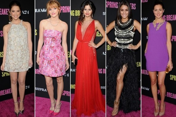 Best Dressed at the 'Spring Breakers' Premiere in Hollywood
