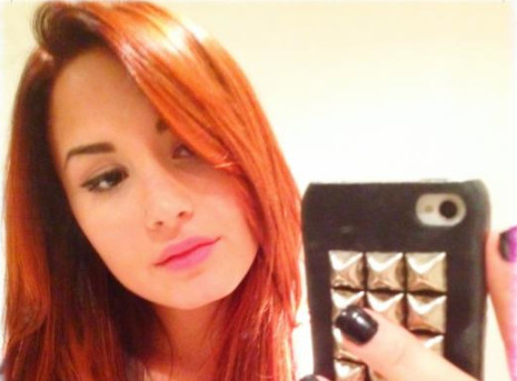 Demi Lovato Unveils Daring Red 'Do on Twitter