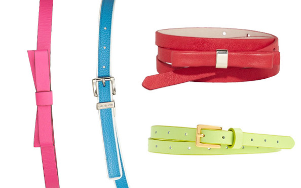 Easy Outfit Upgrade: Wear a Bright Belt Over a Metallic Dress