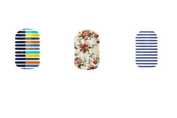 Jamberry Lunar Landing, China Rose and Navy Skinny, $15 each, at jamberrynails.net