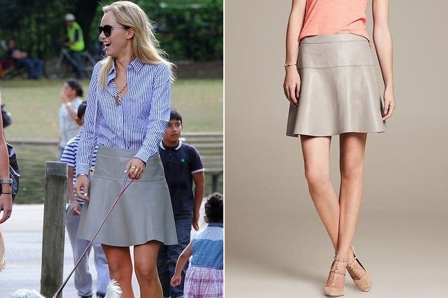 Suki Waterhouse Wearing Banana Republic