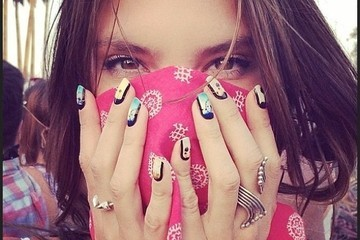 The Famous Face Behind These Coachella Nails