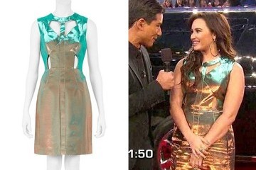 Demi Lovato's Metallic Dress on 'The X Factor'