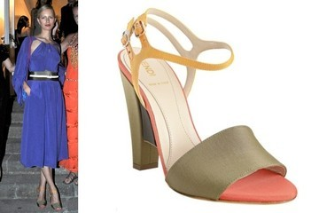 Karolina Kurkova Color Blocks in Fendi