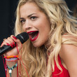 Rita Ora's classic red-on-red combo