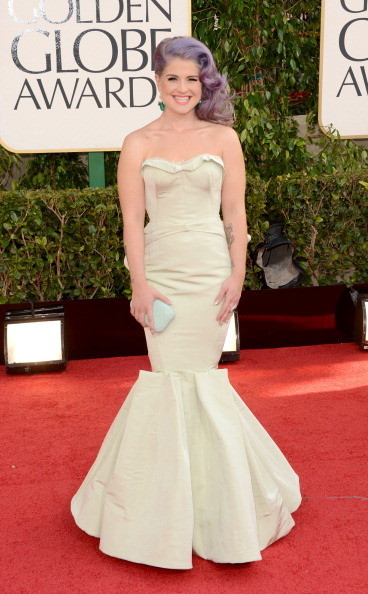Kelly Osbourne Wears Zac Posen at the 2013 Golden Globes