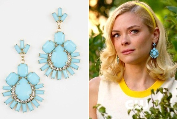 Jaime King's Turquoise Earrings on 'Hart of Dixie'