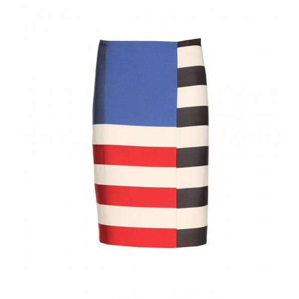 An Abstract Flag-Print Skirt