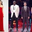 Juliet Simms's Red Chiffon Gown on 'The Voice'
