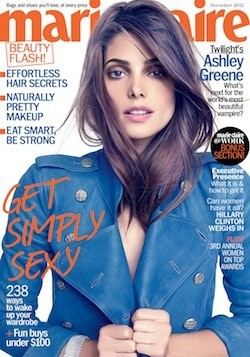 Ashley Greene Covers 'Marie Claire'