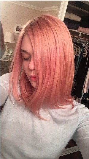 Elle Fanning's Dusty Pink Shade