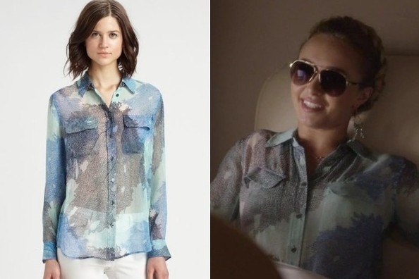 Hayden Panettiere's Watercolor Button Down on 'Nashville'