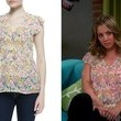 Kaley Cuoco's Sheer Floral Print Blouse on 'The Big Bang Theory'