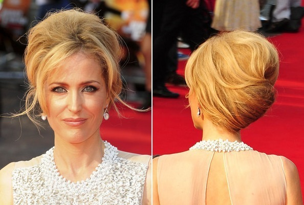 Gillian andersons fabulous french twist do it yourself how to do it yourself how to get hollywoods best hairstyles at home gillian andersons fabulous french twist solutioingenieria Image collections