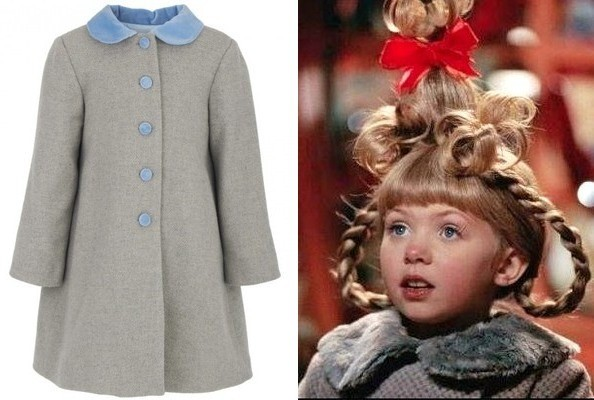 Cindy Lou's Peter Pan-Collared Coat in 'How the Grinch Stole Christmas'