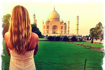 Cat Deeley at the Taj Mahal