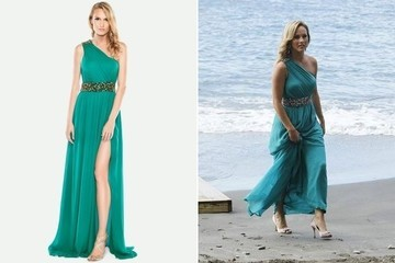 Clare Crawley's Teal One-Shoulder Gown on 'The Bachelor'