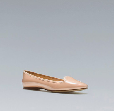 Zara's Patent leather slipper
