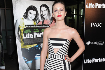 Look of the Day: Leighton Meester's Striped Frock