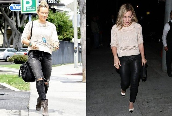 Found: Hilary Duff's Versatile Sweater