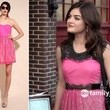 Lucy Hale's Pink Lace Dress on 'Pretty Little Liars'