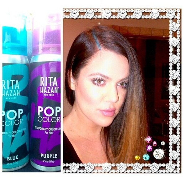 So Khloe Kardashian Painted Her Scalp Blue—Thoughts?