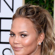 Chrissy Teigen's Bouncy Ponytail and Golden Glow