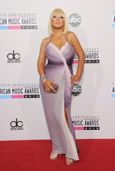 Christina Aguilera at the 2012 AMAs