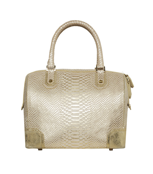 Olivia Bag in Gold Snakeskin