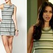 Jessica Lowndes' Striped Mini Dress on '90210'