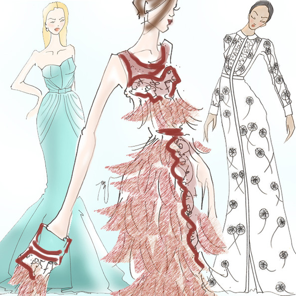 Illustrated: Spring 2013's Most Glorious Gowns