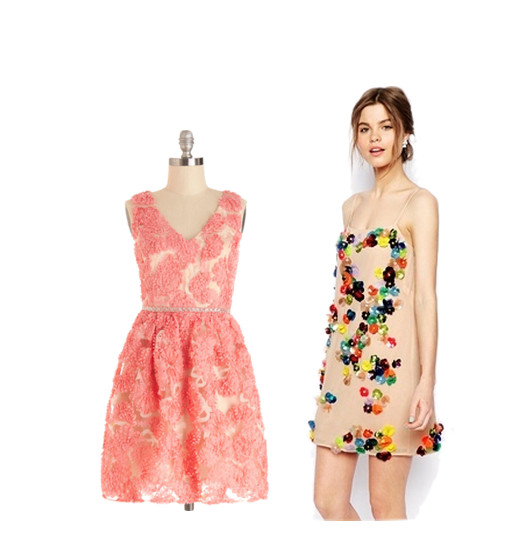 "A Bouquet for You Dress, $120, at <a href=""http://www.modcloth.com/shop/dresses/a-bouquet-for-you-dress"" target=""_blank"">modcloth.com</a>; <strong>ASOS Salon</strong> Embellished Dress, $229, at <a href=""http://us.asos.com/countryid/2/ASOS-SALON-Embellished-Dress/13dig9/?iid=4006162&cid=12921&sh=0&pge=0&pgesize=36&sort=-1&clr=Multi&mporgp=L0FTT1MvQVNPUy1TQUxPTi1FbWJlbGxpc2hlZC1EcmVzcy9Qcm9kLw..&utm_source=Affiliate&utm_medium=LinkShare&utm_content=USNetwork.1&utm_campaign=QFGLnEolOWg&cvosrc=Affiliate.LinkShare.QFGLnEolOWg&link=15&promo=307314&source=linkshare&MID=35719&affid=2135&WT.tsrc=Affiliate&siteID=QFGLnEolOWg-2wXGuPPOxtUf8y_AAsvkjQ&utm_source=Affiliate&utm_medium=LinkShare&utm_content=USNetwork.1&utm_campaign=QFGLnEolOWg&cvosrc=Affiliate.LinkShare.QFGLnEolOWg&link=15&promo=307314&source=linkshare&MID=35719&affid=2135&WT.tsrc=Affiliate&siteID=QFGLnEolOWg-9X00w56QMJI1eFb7L7sv1Q"" target=""_blank"">us.asos.com</a>"