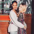 Joan Smalls and Poppy Delevingne Have a Hug