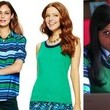 Mindy Kaling's Striped Silk Button-Down and Green Shell Tank on 'The Mindy Project'