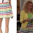 AnnaSophia Robb's Rainbow Stripe Skirt on 'The Carrie Diaries'