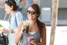 Lea Michele Juices Up
