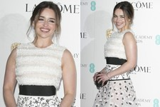 'Game of Thrones' Actress Emilia Clarke Beams at BAFTA Awards Celebration