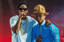 Jay Z and Pharrell Hit the Stage with Fantastic Hats