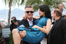 Alec Baldwin Sweeps Hilaria Off Her Feet