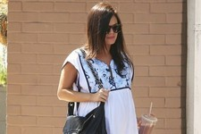 Pregnant Rachel Bilson Grabs Lunch