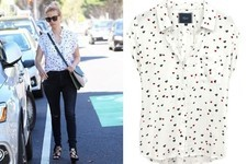 Found: January Jones' Heart-Print Top