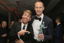 Alexander Skarsgård and Jack McBrayer Are the Hollywood Bromance We Never Knew We Needed
