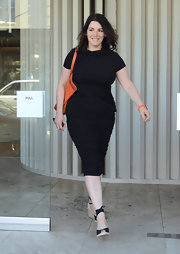The ruching on this black number was so flattering on Nigella Lawson. A great day-to-night look.