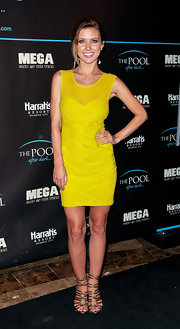 Audrina Patridge wore this neon mini to the Atlantic City.