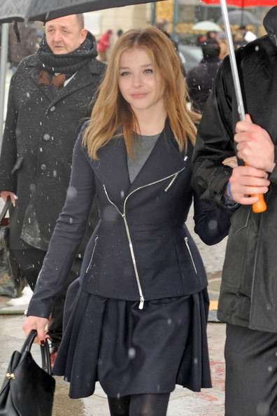 More Pics of Chloe Grace Moretz Zip-up Jacket (1 of 6) - Zip-up Jacket Lookbook - StyleBistro