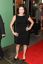 Lana Parrilla wore a simple yet modern LBD with asymmetrical sleeves to 'Good Morning America.'