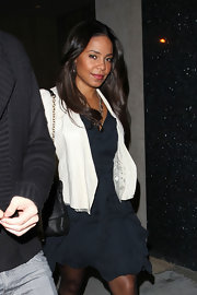 Sannaa Lathan showed off her brunette layers while out in West Hollywood.